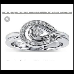 925 KS sterling Silver ring 1/3 CT size 7